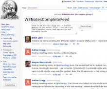 Example of a WEnotes feed and post widget on WikiEducator - MediaWiki